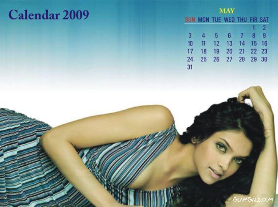 Click to Enlarge - Deepika Padukone Unofficial 2009 Calender