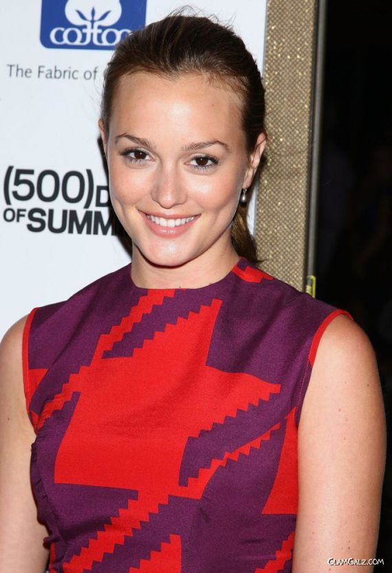 Smiling Leighton Meester At NYC