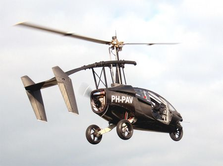The Amazing Helicopter Car
