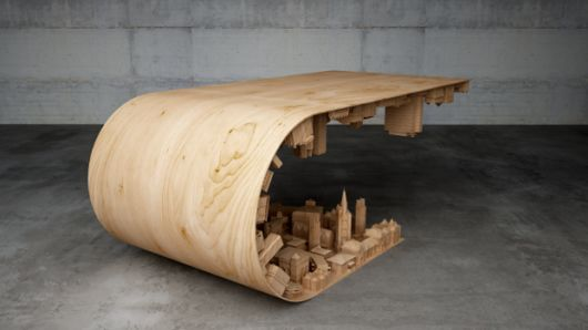 Wooden Inception Inspired Table