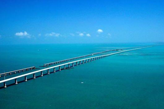 Famous Seven Mile Bridge In Florida