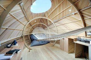 Amazing Wooden Exbury Floating Egg House