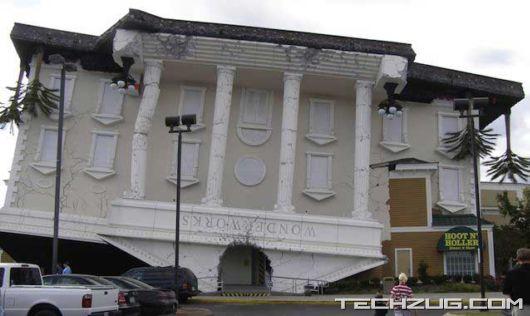 Fully Functional Upside-Down Buildings