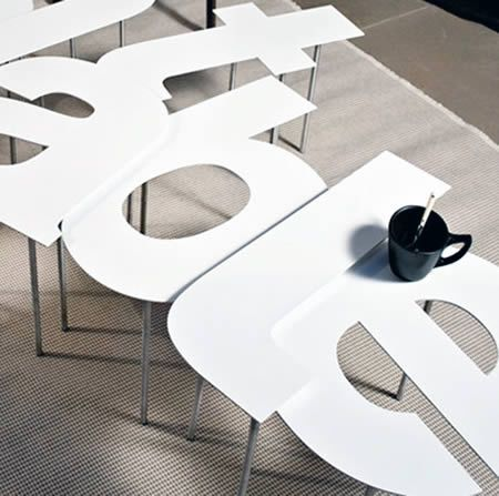 Coolest Typography Themed Furniture