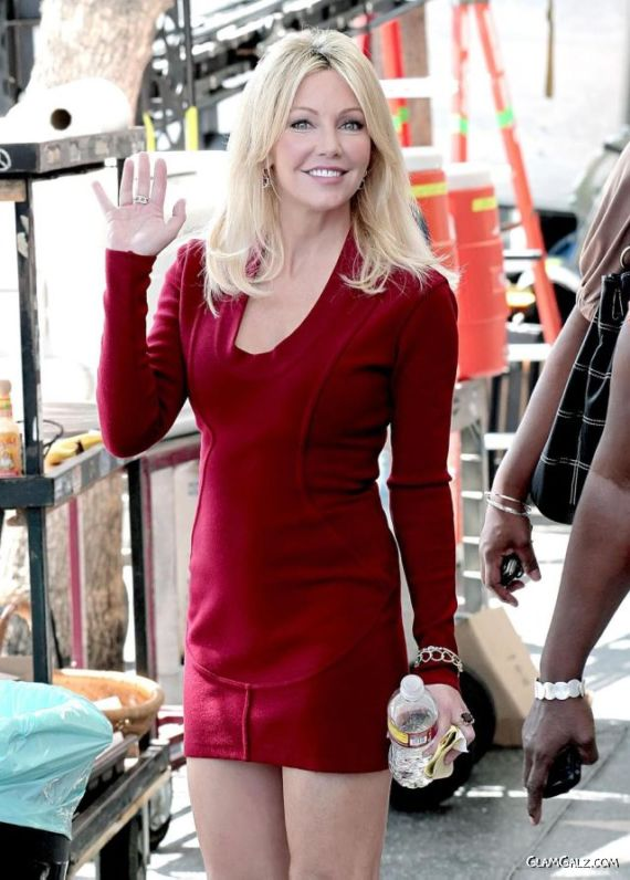 Lovely Heather Locklear in Red