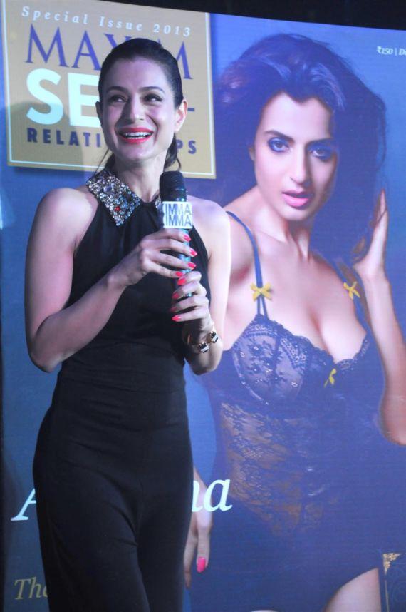 Amisha Patel At Maxim Magazine Launch