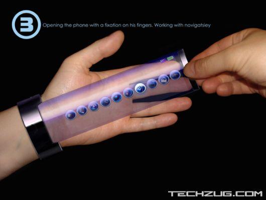 High Tech Bracelet Concept Phone