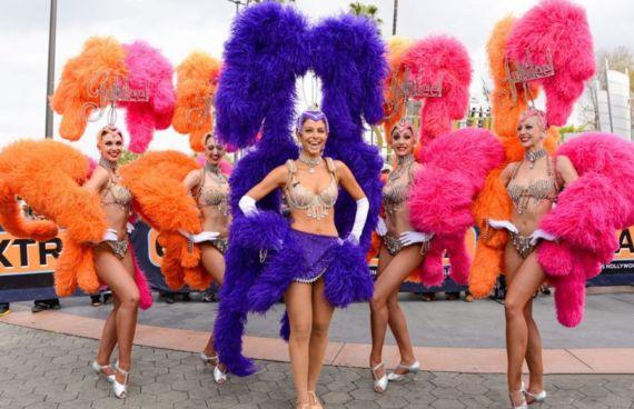 Maria Menounos In Carnival Costume In Universal City