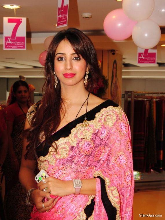 Sanjana Looks Attractive In Saree