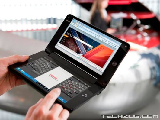Worlds First Dual Screen Laptop Toshiba Libretto W100