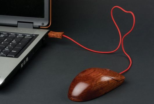 An Eco Friendly Wooden Mouse