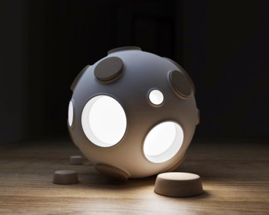 A Desk Lamp Inspired By The Moon
