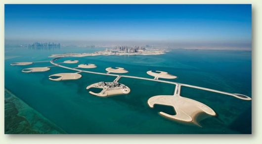 The Pearl Qatar View From Sky