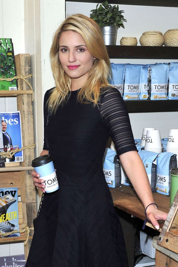 Dianna Agron TOMS to Go One Day Without Shoes Event