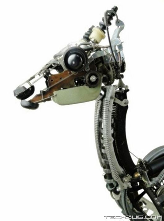 Jeremy Mayer Builds Robots From Recycled Typewriters