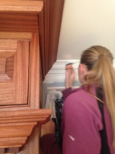 Topcoat's Sandy bringing together a seamless integration of clear and painted fine finishes on a recent remodel.