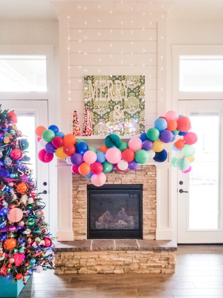 Easy DIY Christmas mantel decor