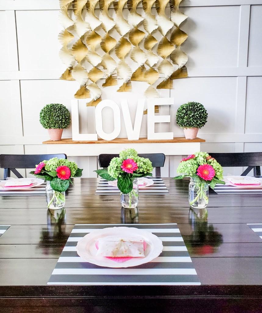 Valentine's Day table decor