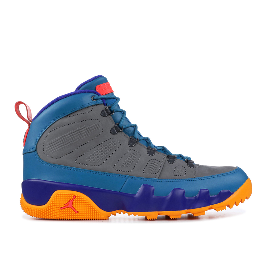 Grey Blue Orange 9 Boot