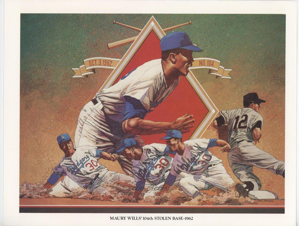 Maury-Wills-104th-Stolen-Base-1962