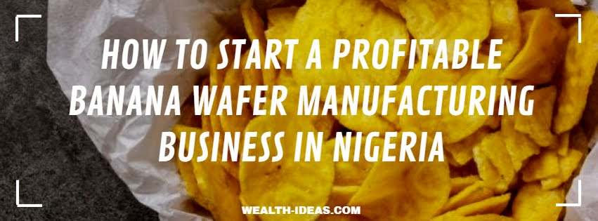 HOW TO START A PROFITABLE BANANA WAFER MANUFACTURING BUSINESS IN NIGERIA