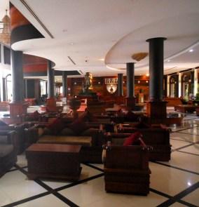 The massive lobby