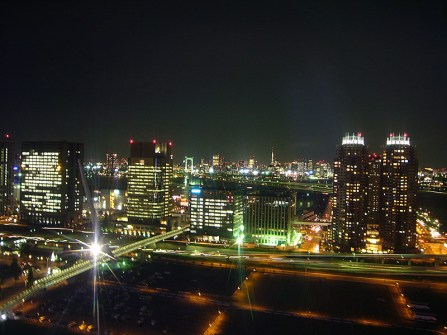 Night-time view from Giant Sky Wheel