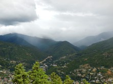 View of distant Thimphu