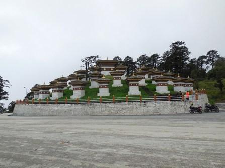 The 108 chorten or stupa