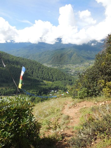 The town of Paro off in the distance