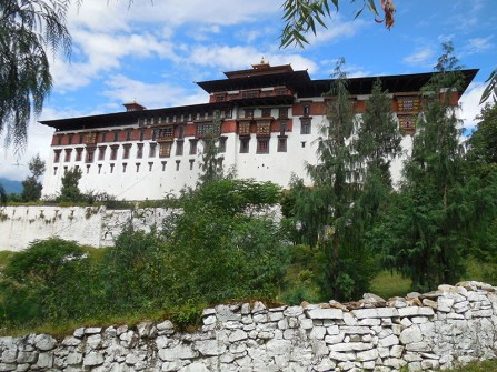 Rinpung dzong from bridge view