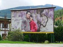 Billboard of King Jigme and Queen Jetsun of Bhutan