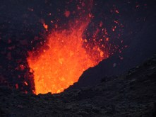 Close up of the lava lake