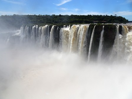 The spray from the falls made for poor visibility