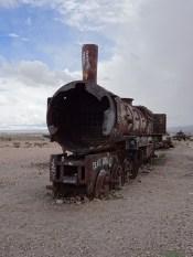 Dead train front view