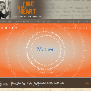 Exhibition Website for Museum of Jewish Heritage
