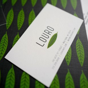 Louro Menu and Stationery System