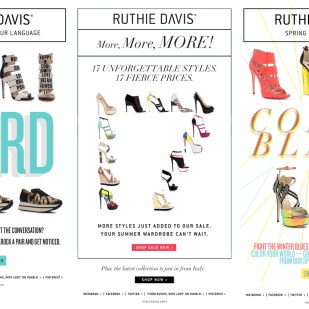 Ruthie Davis® E-Mail Marketing