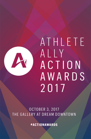 Branding and Materials for 2017 Athlete Ally Action Awards