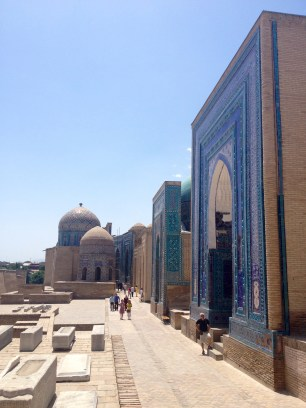 Street of Timurid mausoleums in Samarkand