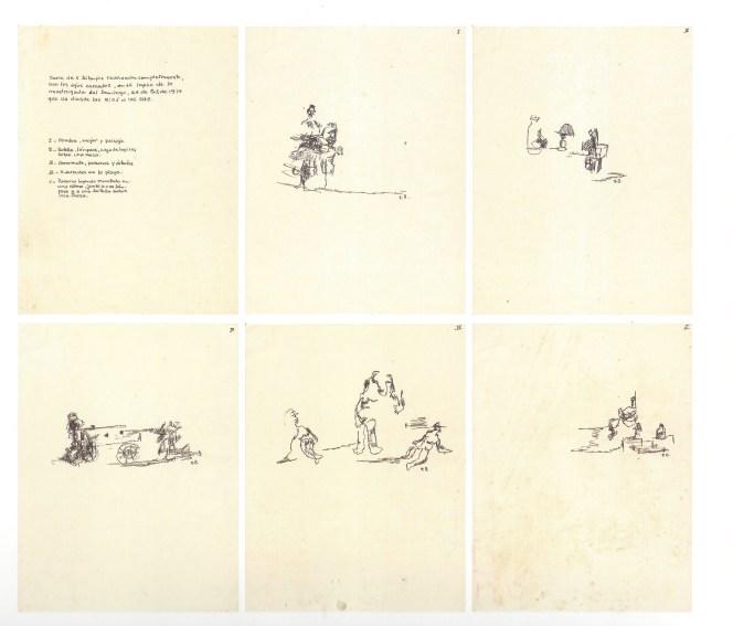 Dibujos con ojos cerrados, 1974