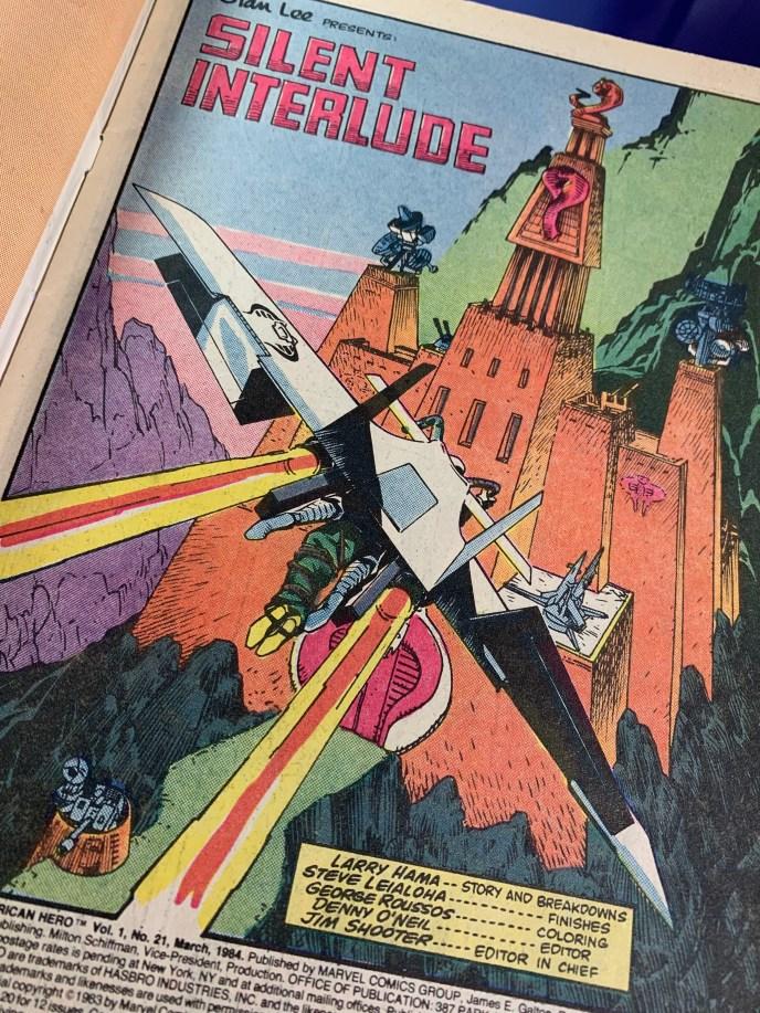 G.I. Joe #21 Snake Eyes flies