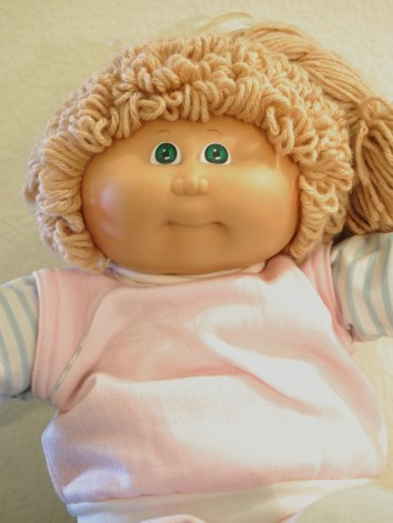 80s Cabbage Patch Kid-Closeup-Girl Jogging Suit