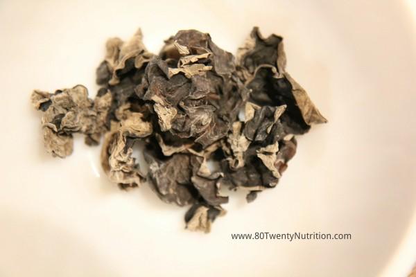 Black Fungus wood ear mushrooms dry - Christy Brissette dietitian 80 Twenty Nutrition