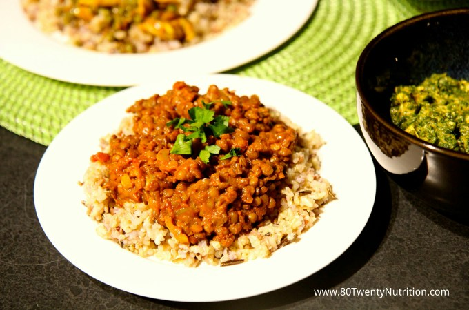 Lentil Coconut Curry with Brown Basmati Rice