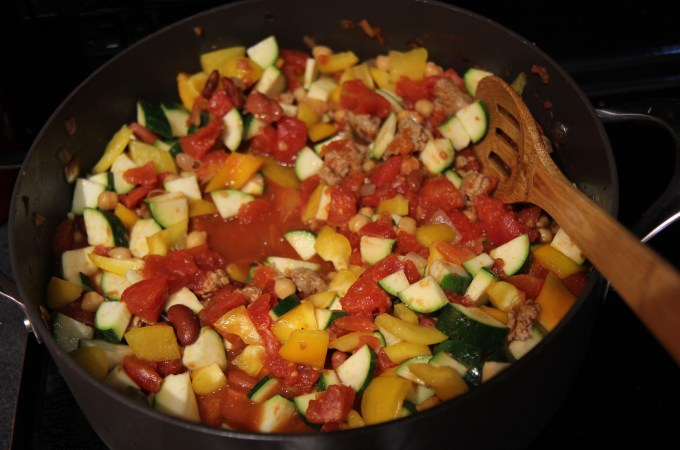 Healthy Turkey Chili loaded with vegetables - Christy Brissette media dietitian 80 Twenty Nutrition
