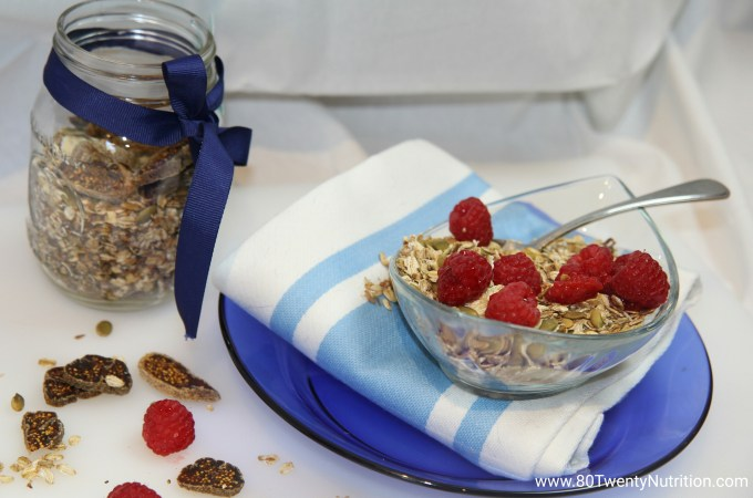 Slow Cooker Vegan Granola Gluten Free - Christy Brissette media dietitian 80 Twenty Nutrition