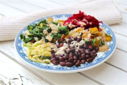 Black Bean and Swiss Chard Pegan Bowl - Christy Brissette media dietitian 80 Twenty Nutrition - paleo and vegan, gluten-free, dairy-free