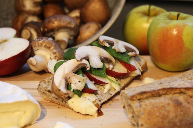 Apple Brie Panini with Mushrooms