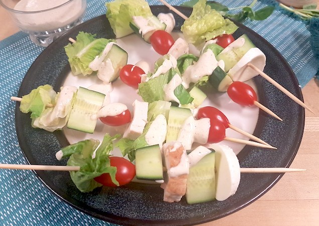 Caesar Salad Bites – Caesar Salad on a Skewer!